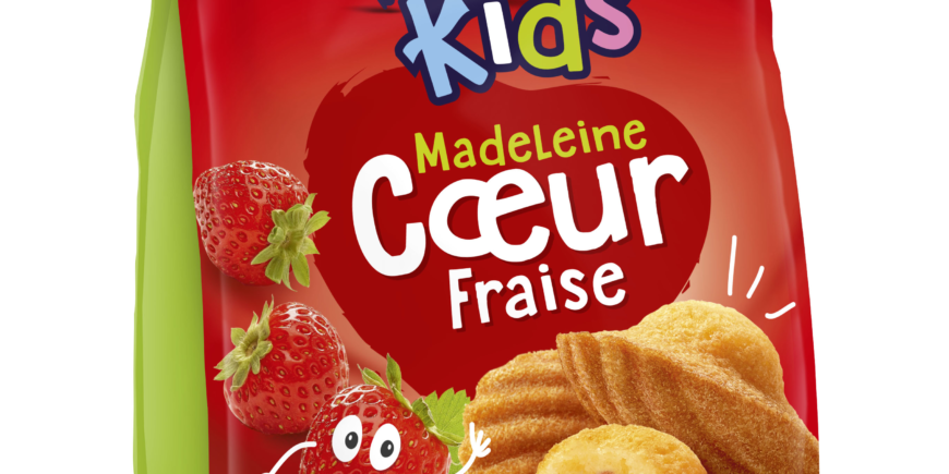 Madelaines coeur fraise - Ker Cadelac KIDS