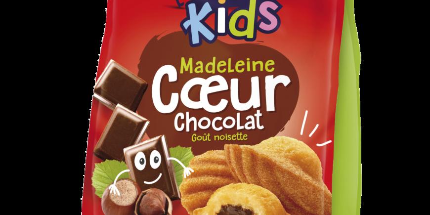 MADELEINE CŒUR CHOCOLAT GOÛT NOISETTE