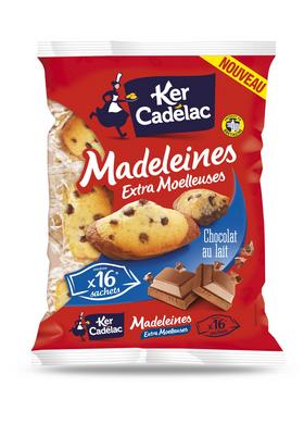 Medelaines extra moelleuses au chocolat au lait - Ker Cadélac