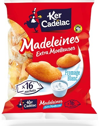 Madelaines extra moelleuses au Fromage blanc - Ker Cadélac