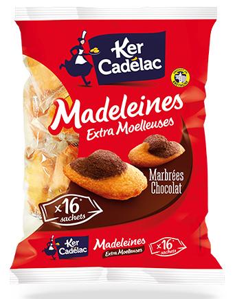 Madeleines extra moelleuses marbrées chocolat - Ker Cadelac