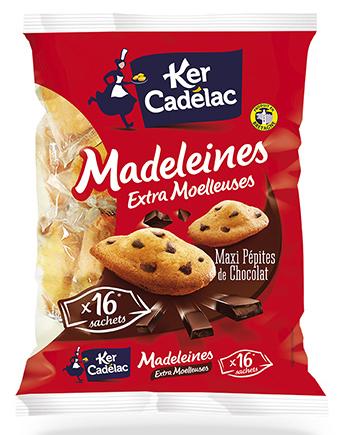 Madelaines Extra moelleuses aux maxi pépites de chocolat - Ker Cadélac