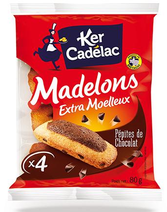 Madelons aux pépites de chocolat - Ker Cadélac