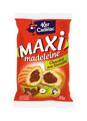 Maxi Madeleine coeur chocolat noisette - Ker Cadélac