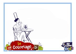 Coloriage mlle Cadelac gouter
