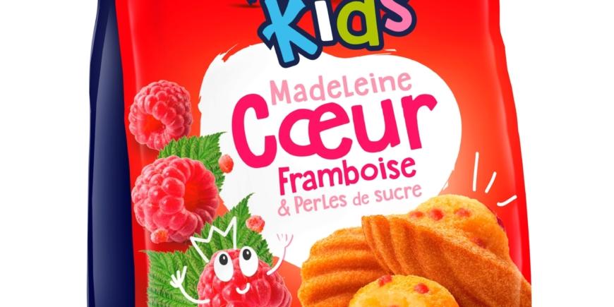 MADELEINE COEUR FRAMBOISE & PERLES DE SUCRE