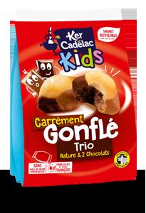 CARRÉMENT GONFLÉ TRIO : NATURE & 2 CHOCOLATS