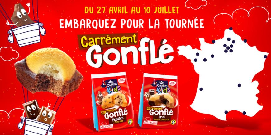 Du 27 avril au 10 juillet 2021 : embarquez pour notre tournée « Carrément Gonflé » !