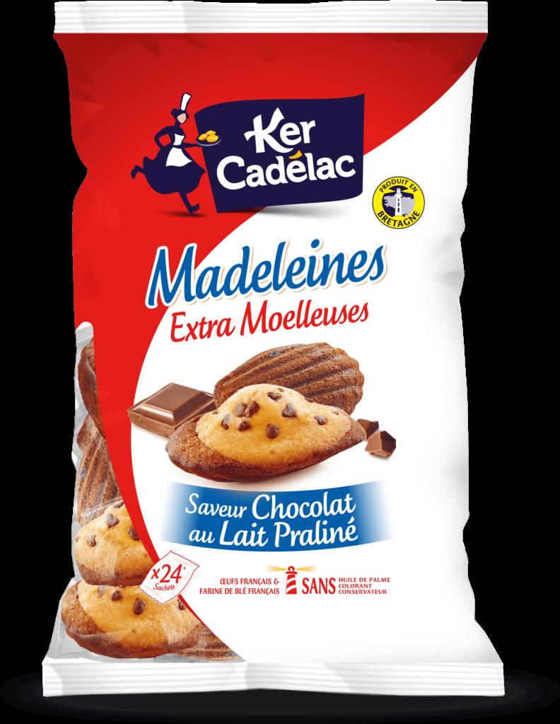 Madeleines Extra Moelleuses Chocolat au lait praliné | Ker Cadélac