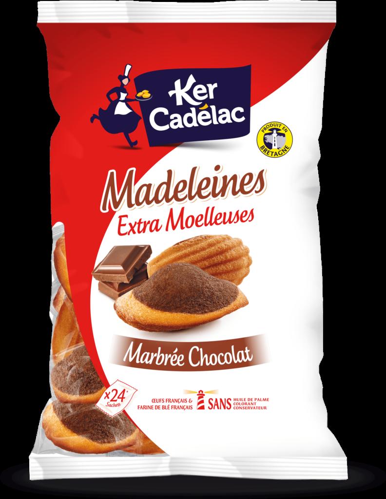 Madeleines Extra Moelleuses Marbrées chocolat | Ker Cadélac