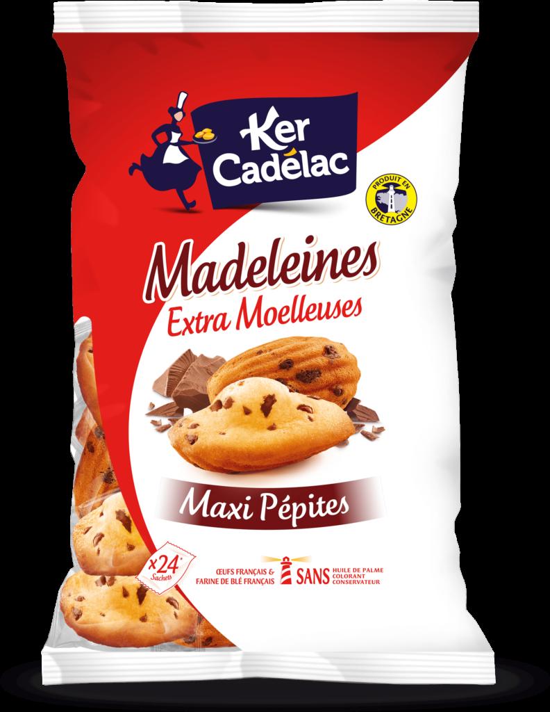 Madeleines Extra Moelleuses aux Maxi Pépites de chocolat | Ker Cadélac