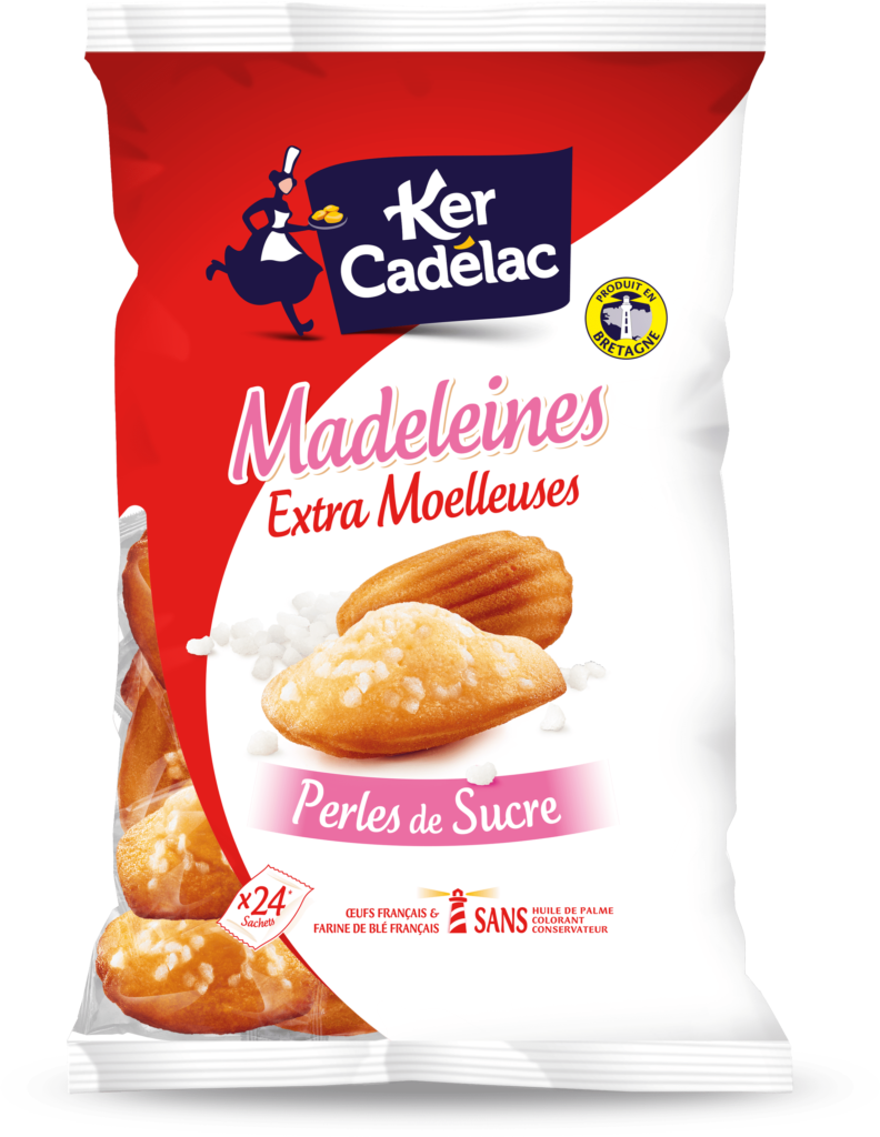Madeleines Extra Moelleuses aux perles de sucre | Ker Cadélac