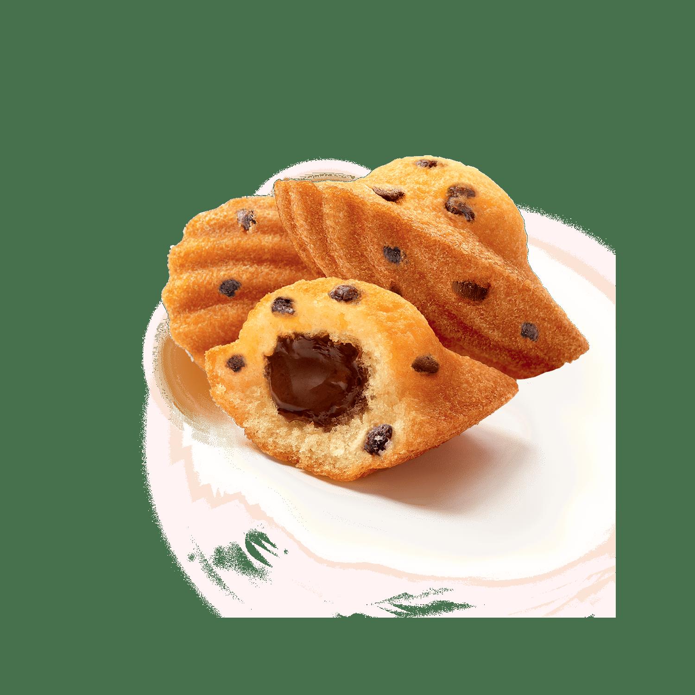 Madeleine Cœur chocolat et pépites de chocolat   Ker Cadélac