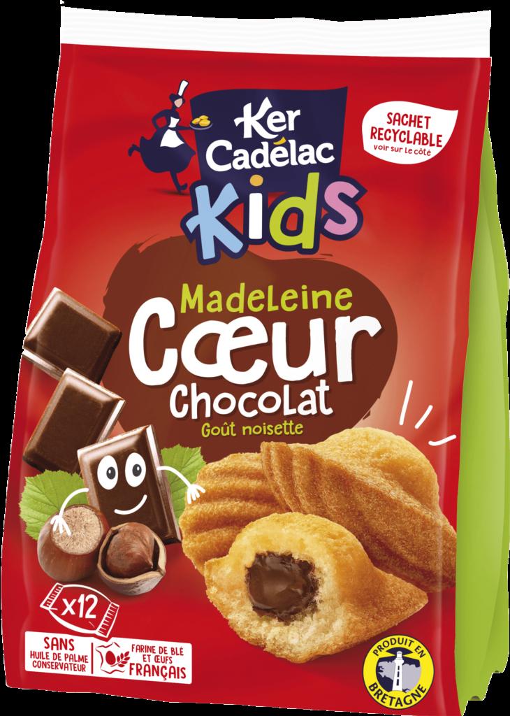 Madeleine Cœur chocolat goût noisette | Ker Cadélac