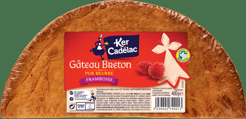 Gâteau breton crème de framboise   Ker Cadélac