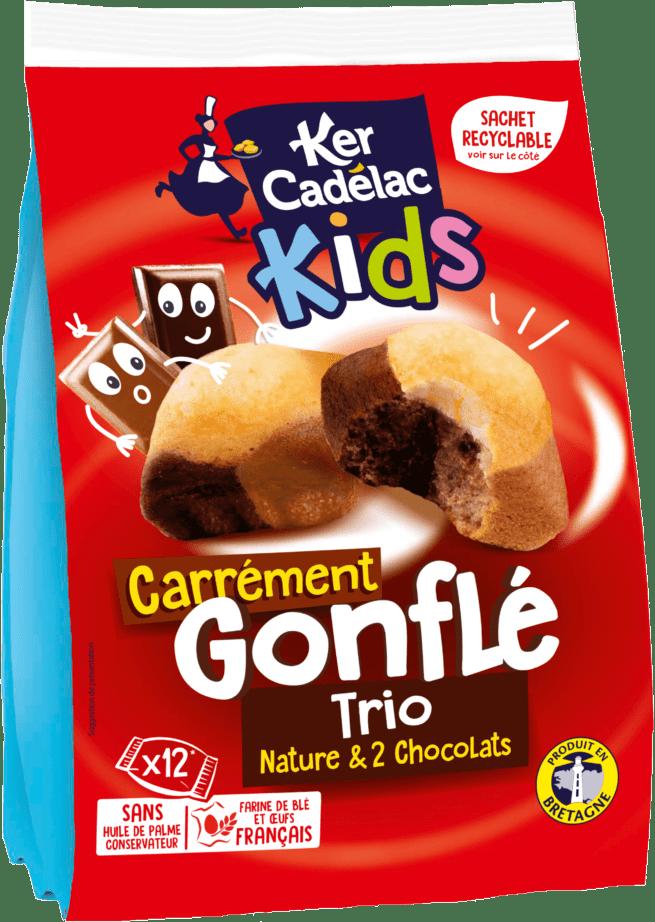 Carrément Gonflé Trio : Nature et 2 chocolats | Ker Cadélac