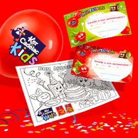 Kit d'anniversaire KIDS   Ker Cadélac
