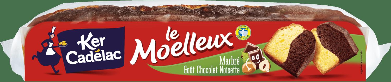 Moelleux marbré goût chocolat noisette | Ker Cadélac